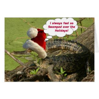 Gator Christmas Card