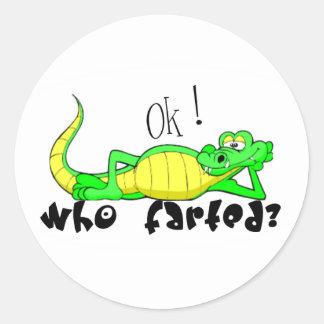 Gator Gas.:-) Classic Round Sticker