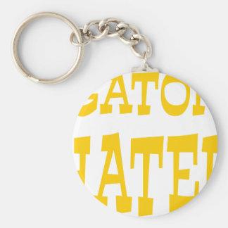 Gator Hater Athletic Gold design Key Ring