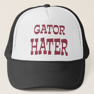 Gator Hater Maroon apparel design Trucker Hat