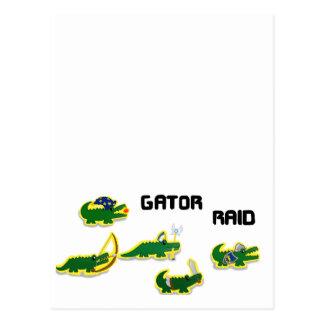 Gator Raid Postcard