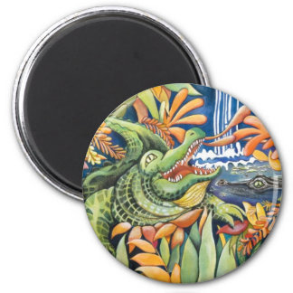 """Gator Time...It's a Swamp Thing!"" Magnet"