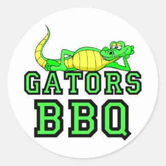 Gators BBQ Round Sticker