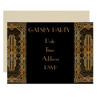 Gatsby 1920s costume party card