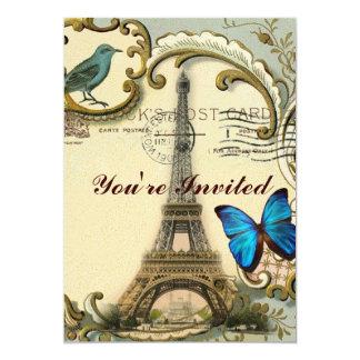 gatsby art deco swirls Vintage paris eiffel tower Card