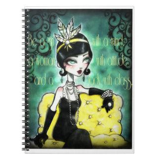 Gatsby Girl Note Book