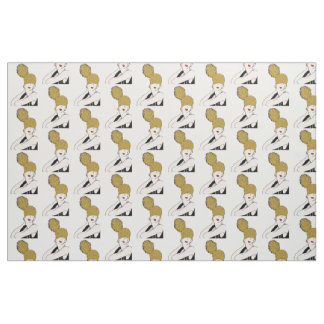 Gatsby Gold Girl Cotton Fabric
