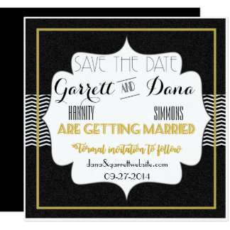 Gatsby Gold Wedding Suite Save The Date Card