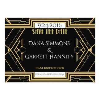 Gatsby Wedding Suite Save the Date Reminder Card