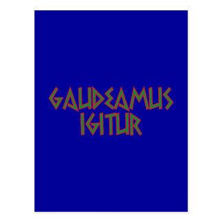 gaudeamus igitur latin latin postcard