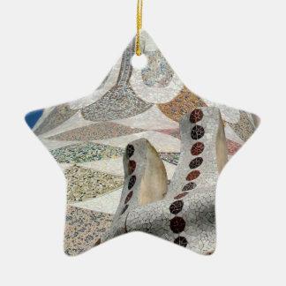 Gaudi Castle Abstract Ceramic Ornament