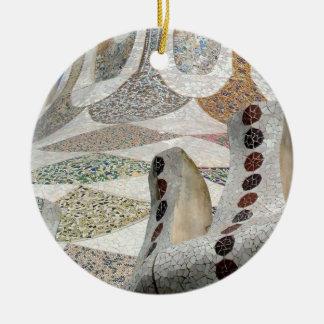 Gaudi Castle Ceramic Ornament