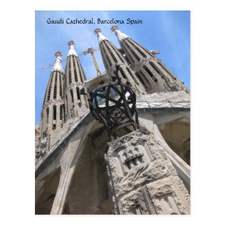 Gaudi Cathedral, Barcelona Spain Postcard