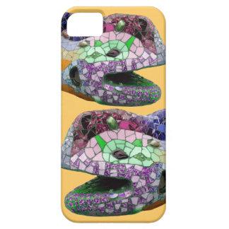 Gaudi Lizard Head Mosaics Barely There iPhone 5 Case