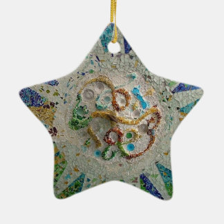 Gaudi Mosaic Ceramic Ornament