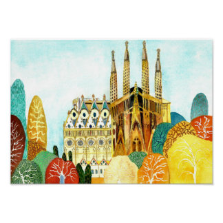 Gaudi 's Barcelona. Poster