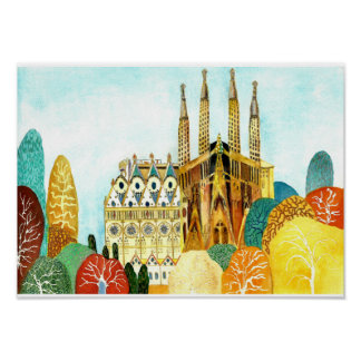 Gaudi's Barcelona. Poster