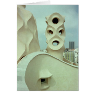 Gaudi sculpture (blank) card