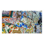 Gaudi's Park Guell Mosaic Tiles Poster