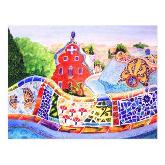 Gaudi's Park. Postcard