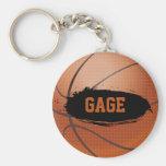 Gauge Grunge Basketball Key Chain / Key Ring