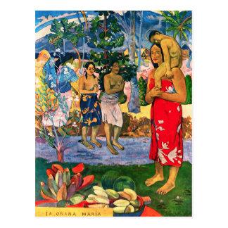 Gauguin Ia Orana Maria Postcard