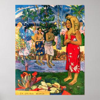 Gauguin Ia Orana Maria Poster