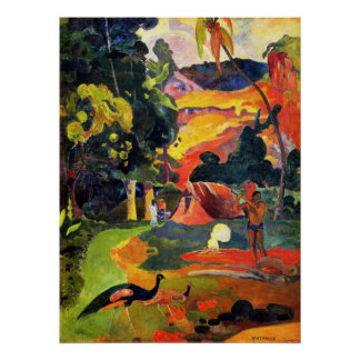 Gauguin Landscape with Peacocks Poster