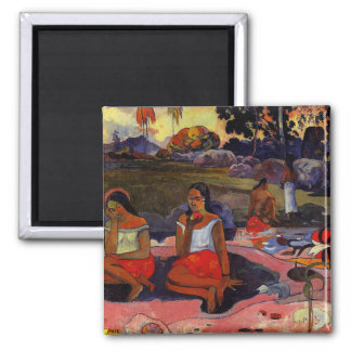 Gauguin - Nave Nave Moe Square Magnet