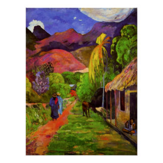 Gauguin Road in Tahiti Poster