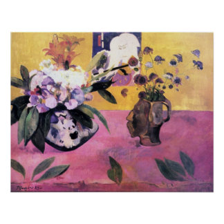 Gauguin - Still Life with Japanese Woodblock Poster