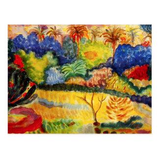 Gauguin Tahitian Landscape Postcard