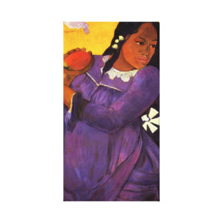Gauguin Woman With A Mango Canvas Wrap Stretched Canvas Print