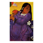 Gauguin Woman With A Mango Poster