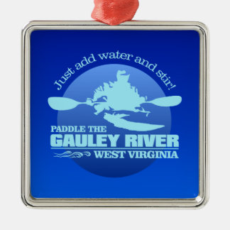 Gauley River (Blue) Metal Ornament