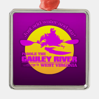Gauley River (Sunset) Metal Ornament