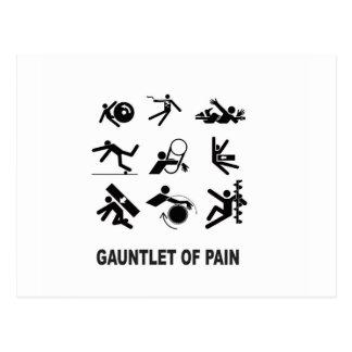 gauntlet of pain postcard