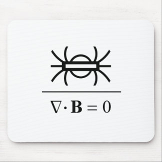 Gauss's Law of Magnetism Mouse Pad