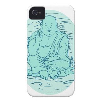 Gautama Buddha Lotus Pose Drawing Case-Mate iPhone 4 Cases
