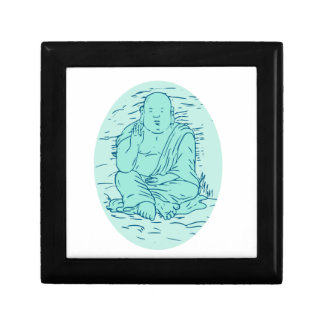 Gautama Buddha Lotus Pose Drawing Gift Box