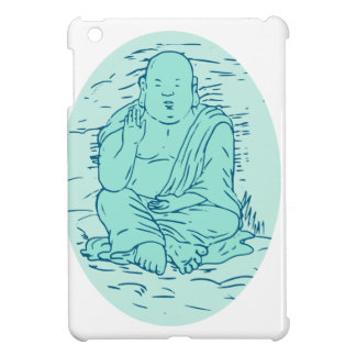 Gautama Buddha Lotus Pose Drawing iPad Mini Cover
