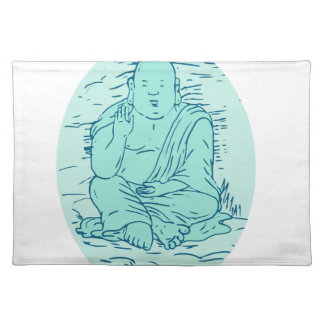 Gautama Buddha Lotus Pose Drawing Placemat