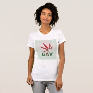 GAV Red/Green Leaf Fade Logo Print T-Shirt