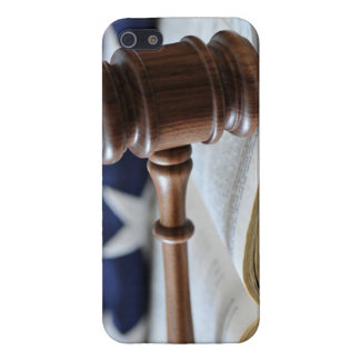 Gavel atop book iPhone 5 covers