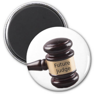 Gavel Design For Aspiring Judges And Lawyers 6 Cm Round Magnet