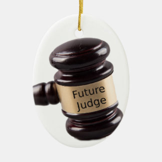 Gavel Design For Aspiring Judges And Lawyers Ceramic Ornament