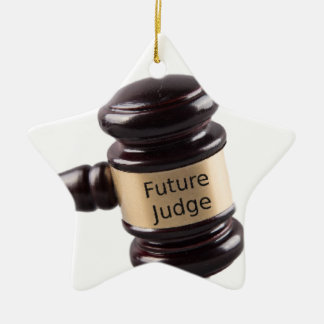 Gavel Design For Aspiring Judges And Lawyers Ceramic Star Decoration