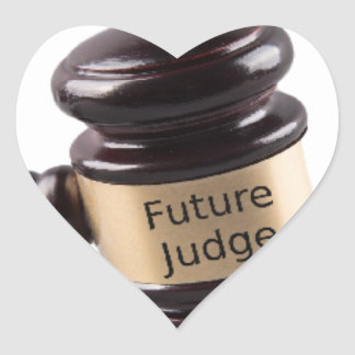 Gavel Design For Aspiring Judges And Lawyers Heart Sticker