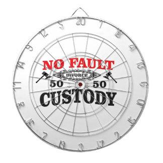 gavel divorce 50 50 custody dartboard