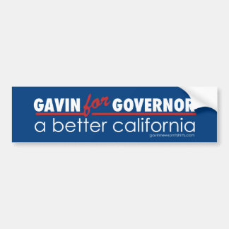 Gavin for Governor Bumper Sticker